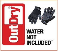 Ergodyne ProFlex� Thermal Utility Gloves with 40g 3M� Thinsulate� insulation, the latest waterproof technology using the unique OutDry� laminating process.